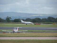 G-CJAH (IndiaEcho Photography) Tags: gcjah raytheon 390 premier manchester international airport airfield egcc man airliner aviation aeroplane aircraft cheshire england