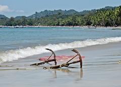 Ngapali Beach, Myanmar - Anchors on the Beach near Gyeiktaw Village (zorro1945) Tags: myanmar burma asia asie ngapalibeach gyeiktawvillage beach anchor surf waves ocean bayofbengal tropicalbeach