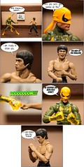 Bruce Lee vs Iron Fist comic strip (nin2k5) Tags: brucelee ironfist marvel shfiguarts hasbro toyphotography diorama