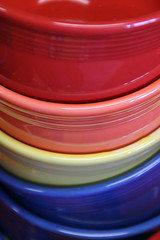 Another trip to Fiesta Ware (douglas randall thayer) Tags: douglasthayer fiestaware westvirginia newell dishes glass cups plates color