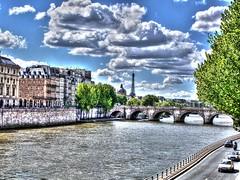 Paris in pastel (mmalinov116) Tags: paris france city capital colors pastel hdr river париж франция сена seine beautiful beauty toureiffel clouds