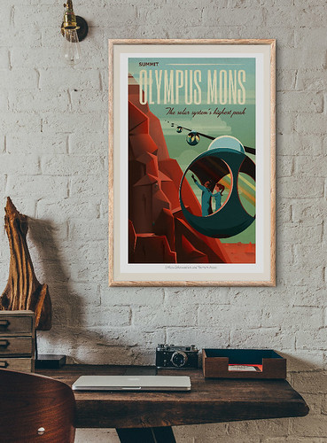12-Affiche // 50x70 // Olympus Mons