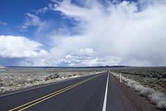 Central Oregon (icetsarina) Tags: highway road blacktop desert plains sagebrush mountains clouds rain