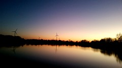 Sunset (michellemätzig) Tags: sunset orange nigth blue windmill nature lake sunrise sun stars europe germany incredible best beautiful wow awesome light shadow good gorgeous exciting hiwosomoshots