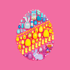 (J Trav) Tags: thingsorganizedneatly easter 99centonlystore product colorful seamless blue yellow pink purple eggs egg 500x500 square