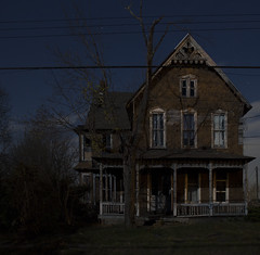 For Sale (• estatik •) Tags: hunterdon county abandoned house decay haunted eerie spooky kingwood frenchtown night long exposure dark darkness babtistown