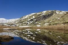 Gredos, Garganta de las Pozas (Spain) (Jacques Teller) Tags: symmetry still reflection water spain españa mountain gredos lagunagrande river reflexion snow rock jacquesteller nikond7200 trekking hike