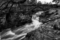 Linn O' Dee (PeskyMesky) Tags: aberdeenshire linnodee bridge water le longexposure monochrome bw blackwhite landscape scotland flickr