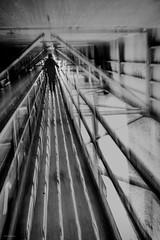 leaving (sami kuosmanen) Tags: kuusankoski kouvola intentionalcameramovement icm suomi finland light long exposure europe photography pitkä valotus valo man mies mustavalko silta bridge dof dark blues blur under creative creepy spooky eerie