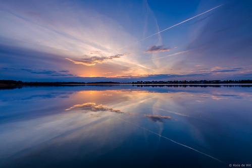 Sunset reflections at lake Borgmeren