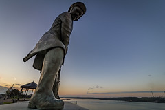 Fisherman (brianmiller006) Tags: fisherman monument morning haven pembrokeshire wales