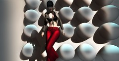 "BELL - ""BlackRose Fashion"" (rubycmyzom) Tags: bell blacrose fashion pant red tied check"