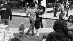 March for Science Edinburgh 034 (byronv2) Tags: edinburgh edimbourg earthday marchforscience science protest march demonstration candid peoplewatching street scotland ayeforsci blackandwhite blackwhite bw monochrome man woman dancing dance waltz embrace hug romance