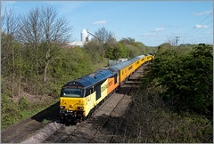 Off the Beaten Track (Resilient741) Tags: class 67 67023 67027 colas skips gm general motors network rail test train derby railway technichal centre bagworth jnc junction coalville line burton leicester branch tracks railways br british leicestershire