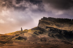 Another World (devlin11) Tags: skye isleofskye scotland scenery sunrise storr stormy clouds morning mountains mountain mystic landscape rock
