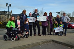 (Zak355) Tags: rothesay isleofbute bute scotland scottish coop lightupbute cheques donation donating funday