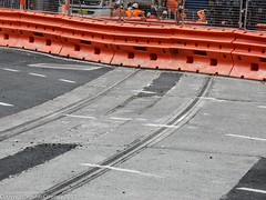 CBD & South East Light Rail - George Street -  Update 18 April 2017 (1) (john cowper) Tags: cselr sydneylightrail construction infrastructure transportfornsw altrac bridgestreet grosvenorstreet georgestreet track trackslab tracklaying alignment sydney newsouthwales