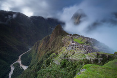 Clearing Storm (Machu Picchu) (baddoguy) Tags: longexposure cloud mountain peru southamerica fog river images getty gorge machupicchu clearingstorm