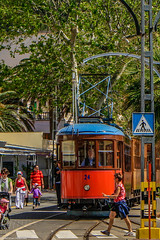 Soller Historic Streetcar (Christian Hoemke) Tags: travel landscape spain streetcar mallorca soller balearic canoneos1000d lightroom5 tamrondiii18270mm13563
