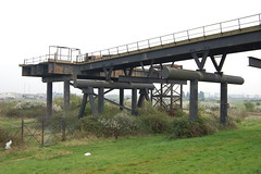 The landward end of the pipeline bridge (chemodan) Tags: uk haven abandoned thames river island industrial decay jetty shell essex redundant canvey