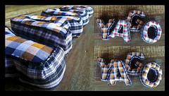 Yago em Tecido (anuska.nardelli) Tags: handmade letters chess manual patchwork seam letras xadrez costura backstitch duplaface twosided feitoamão pesponto