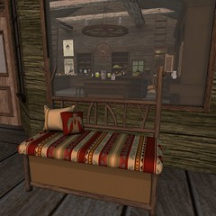 The Challenge | Sway's Bench (Hidden Gems in Second Life (Interior Designer)) Tags: wild house west home wheel bar wagon design interior south western cart build saloon challenge the