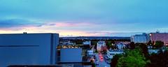 Sunset around Filderstadt  mit Flughafen - Airport Stuttgart  - TV Tower - NH Hotel Bonlanden. STR.  EDDS. Airport. (eagle1effi) Tags: sunset panorama sun airport stuttgart pano samsung sonne str edds filderstadt bonlanden panoramablick regionstuttgart samsunggalaxys5 samsungsmg900f