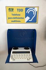 Telefone para deficientes auditivos (Edson Grandisoli. Natureza e mais...) Tags: teclado surdo tropical floresta telefone tecnologia amaznia deficiente regiocentrooeste auditivo adapatao