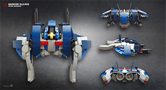 BaisCor KLE-P25 patrol hovership (Overview) (Morgan190) Tags: robot starwars fighter lego alt space contest police spaceship build patrol droid alternate hover m19 enforcer fbtb 75042 morgan19 morgan190