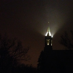 Morning Beacon (michael.veltman) Tags: morning light church early grain atmosphere lockport