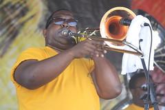 Pinstripe Brass Band (2014) 10 - trombone player