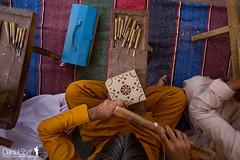 Wooden Block In Making for Ajrak (Danial Shah) Tags: pakistan wooden block shawl cloth sindh ajrak bhitshah