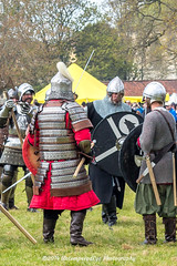 [2014-04-19@15.06.18a] (Untempered Photography) Tags: history costume fight helmet battle medieval weapon sword knight shield combat armour reenactment skirmish combatant chainmail canonef50mmf14 perioddress polearm platearmour gambeson poleweapon mailarmour untemperedeye canoneos5dmkiii untemperedeyephotography glastonburymedievalfayre2014