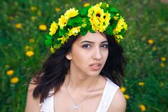 (Anne Cherry) Tags: portrait selfportrait flower girl self canon hair 50mm spring model eyes dream like lips delicacy 1100d