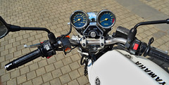My Yamaha XJ600N (Debarshi Ray) Tags: summer white nikon czech motorcycles bikes brno motorbike yamaha xj600n nikond3100 antonnsk