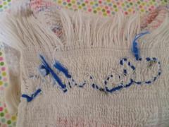 Meu primeiro bordado (super_ziper) Tags: kids diy craft claudia toalha nome criana ponto cebolinha rosto bsico linha bordado fcil toalhinha iniciantes superziper