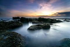 Mengening sunset, Bali-Indonesia (Ricky Nugraha) Tags: sunset bali slowshutter pantaimengening mengeningbeach