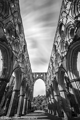 Rievaulx Abbey (David Relph) Tags: longexposure bw abbey clouds canon mono wideangle rievaulx tamron northyorkshire movingclouds rievaulxabbey weldingglass davidrelph