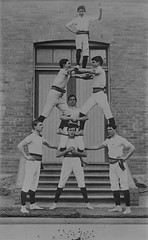 Human pyramid by members of the Ebenezer Gym Club (State Library Victoria Collections) Tags: 1920s pyramid human gymnastics statelibraryofvictoria