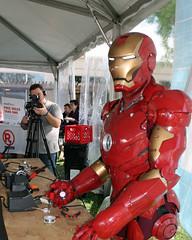 Ironman Learns to Solder (thorssoli) Tags: costume ironman armor prop mkiii mk3 mark3 markiii makerfaire thorsson bayareamakerfaire makerfaire2014