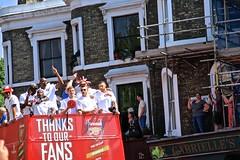 Arsenal victory celebration (Herschell Hershey) Tags: street bus london alex cup corner jack football islington highbury per arsenal wilshire fa opentop gabrielles mertesacker bacarysagna oxlaidechamberlain