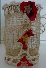 Crochê e garrafas pet (Brechó de ideias) Tags: flores preto vermelho cerâmica fuxico coração sementes colar gargantilha velas colares linha cordão laço miçangas acabamento cortadosrecortes