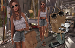 Chiringuito (Anuska L.) Tags: sea summer music sun sol praia beauty mar 3d sand surf mesh femme playa arena secondlife verano casual plage beachparty emporium chiringuito puravida jewell goodlife 3dgirls tendences 3dpeople 3dgirl coldambitionz pumec lbjewell