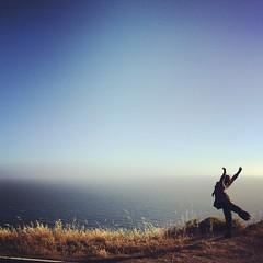 Release (Kristen Sague) Tags: ocean california woman water freedom dance risk marin adventure pacificocean marincounty naturalbeauty mystic californiaadventure moderndance arabesque dancingwoman ontheedge beautifuldancer dancelikenooneiswatching californiatravel dancingoutside californiadance