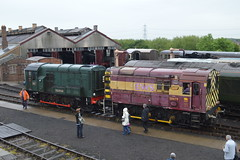 08879 and 08604 'Phantom', Didcot Railway Centre (JH Stokes) Tags: heritage photography tracks trains preserved phantom railways trainspotting locomotives preservation 2014 didcotrailwaycentre 08879 dieselgala preservedlocos 08604