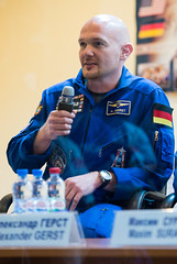 Expedition 40 Press Conference (201405270021HQ) (NASA HQ PHOTO) Tags: joel nasa baikonur kowsky cosmonauthotel baikonurcosmodrome alexandergerst roscosmosrussianfederalspaceagency expedition40