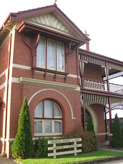 """Glenora"" - Corner Bromfield and Corangamite Streets, Colac (raaen99) Tags: city chimney house building brick home stone architecture facade post architecturaldetail queenanne pillar masonry australia stainedglass victoria artnouveau porch villa mansion verandah nouveau residence housename 20thcentury stainedglasswindow edwardian gable colac halftimbered 1900s redbrick glenora jugendstil 1907 fretwork countryvictoria belleepoque domesticarchitecture twentiethcentury bellepoque architecturalfeature bromfieldstreet largehouse queenannestyle clinkerbrick brickandstone queenannearchitecture brownbrick edwardiana provincialvictoria bromfieldst federationqueenanne federationqueenannearchitecture returnverandah artnouveaustainedglass doctorgibbs architecturallydesigned woodenfretwork artnouveaufretwork artnouveaustainedglasswindow federationqueenannestyle perryknights drrichardhoracegibbs corangamitest corangamitestreet richardhoracegibbs warburtonpierreknights warburtonperryknights"