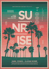 Summer Poster Template Vol. 4 (Indieground Design Inc.) Tags: sunset sea party summer music beach illustration club photoshop sunrise palms print poster disco dance seaside concert flyer dj gig minimal nightclub event 80s gradient electro electronic psd template futuristic dubstep djset indieground
