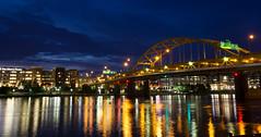 IMG_7509.jpg (The LSA Tman) Tags: city longexposure bridge summer yellow architecture night river downtown pittsburgh pennsylvania steel pointpark steelcity