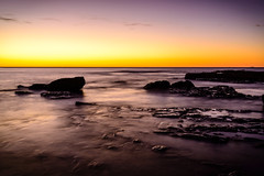 Waves washing over rocks and tidepools (thaths) Tags: ocean landscape pacific au sydney australia newsouthwales littlebay 2014